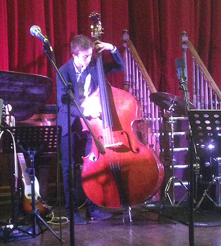 Dan Laurie Martin double bass